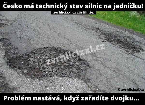 Česko Má Technický Stav Silnic Na Jedničku. Problém Nastává, Když Zařadáte Dvojku...