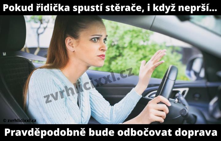 Pokud řidička Spustí Stěrače, I Když Neprší... Pravděpodobně Bude Odbočovat Doprava,vtipy,o ženách,srandovní,řidička,žena Za Volantel, Hlášky,humor, Zábava