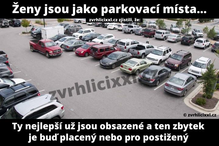 Ženy Jsou Jako Parkovací Místa. Ty Nejlepší Už Jsou Obsazené A Ten Zbytek Je Buď Placený Nebo Pro Postižený