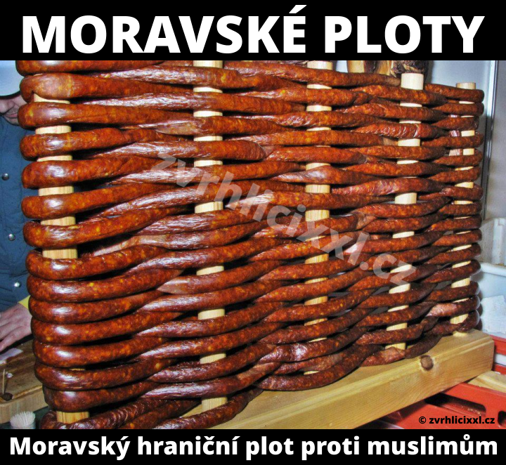 Moravský Hraniční Plot Proti Muslimským Fanatikům,muslimove,migranti,imigranti,vtipy,kloásy,morava,moraváci,jídlo,ploty,zabíjačka