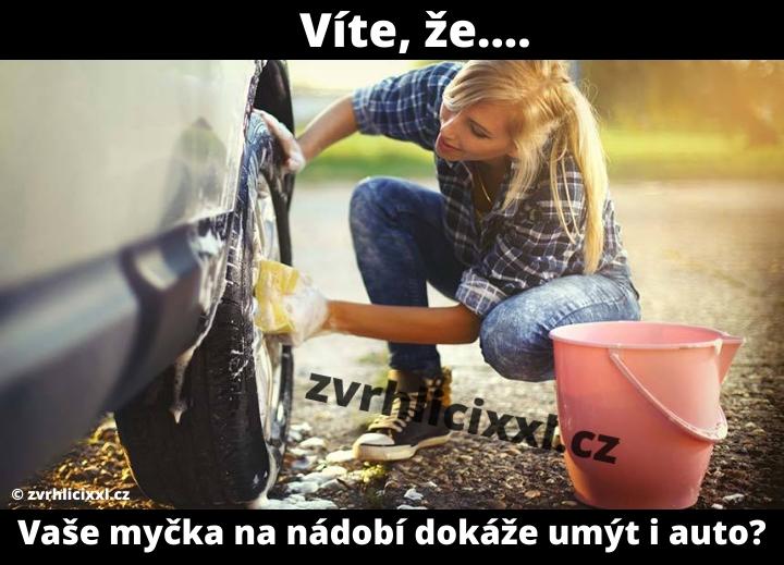 Víte, že.... Vaše Myčka Na Nádobí Dokáže Umýt I Auto