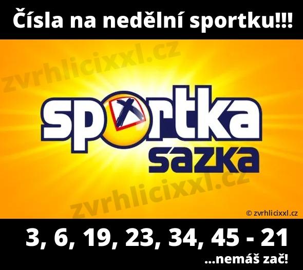 Sportka Na Neděli, Výherní čísla Sportka